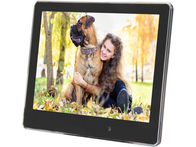 "ViewSonic VFM820-50 8"" ultra slim 800x600 digital photo frame, calendar/clock/alarm, auto on/off, light sensor built in"