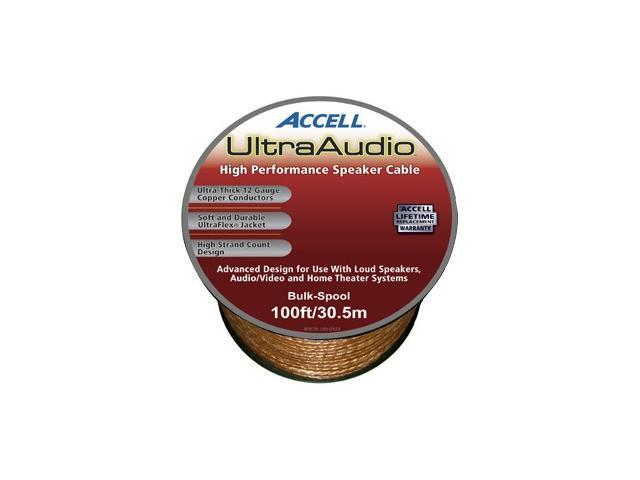 Accell Model B067B-100H 100 ft. UltraAudio Speaker Cable, 12-Gauge