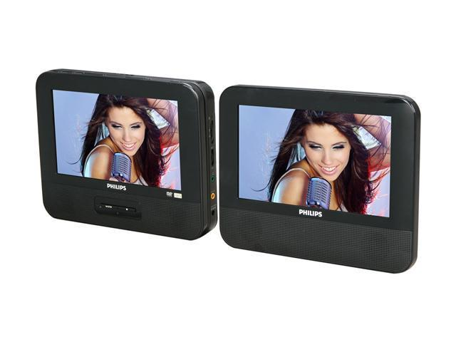"PHILIPS PD7012/37 7"" Dual Screens Portable DVD Player"