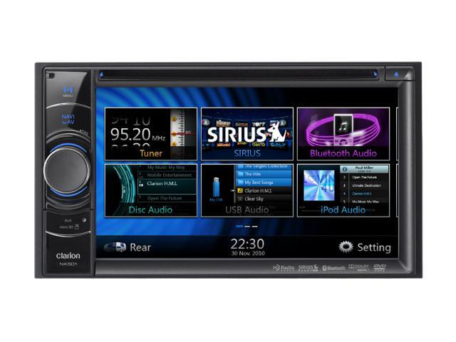 "Clarion 2-DIN DVD Receiver w/ 6.2"" Touchscreen & GPS Model NX501"