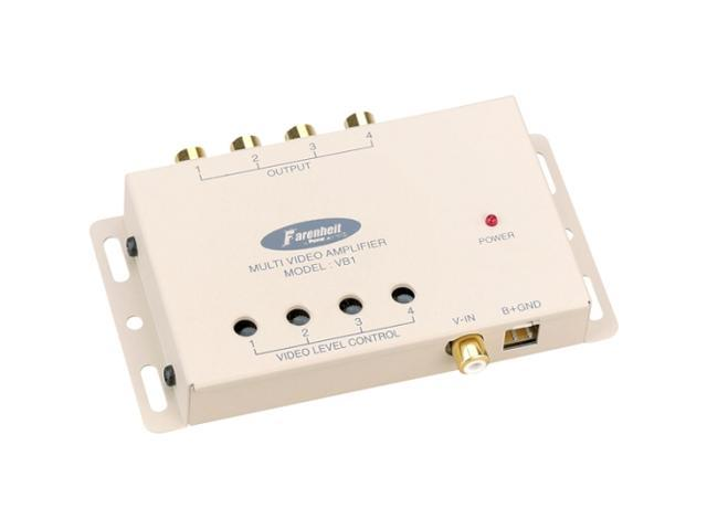Power Acoustik VB-1 1 In / 4 Out Video Signal Booster