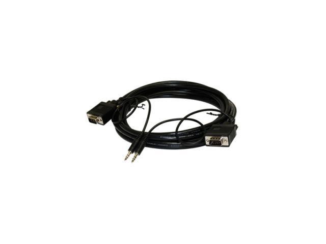 STEREN 253-203BK 3 ft. 15-pin HD-15 VGA Mini-phone Stereo Audio Cable