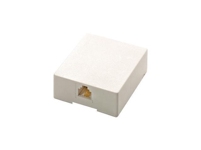 Steren 301-145WH Modular Surface Mounting Box
