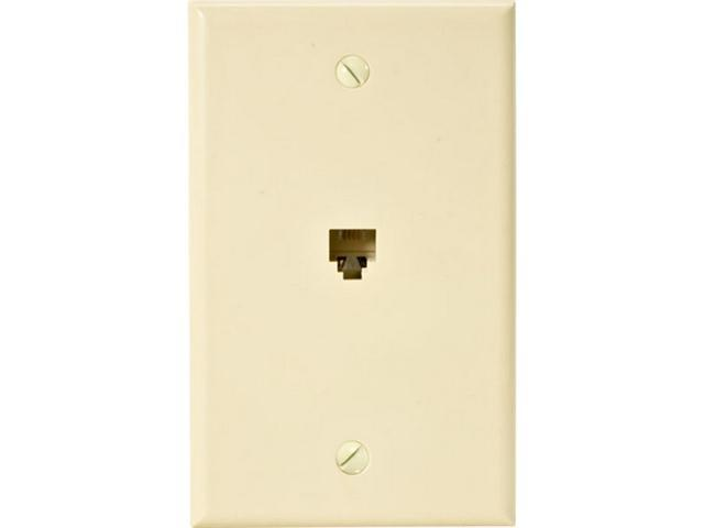 Steren 300-204IV Standard 4C Telephone Wall Plate, Ivory