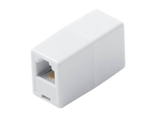 Steren BL-320-034WH Telephone Coupler Adapter, White