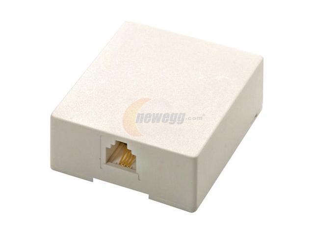 Steren 300-145WH Modular Surface Mounting Box