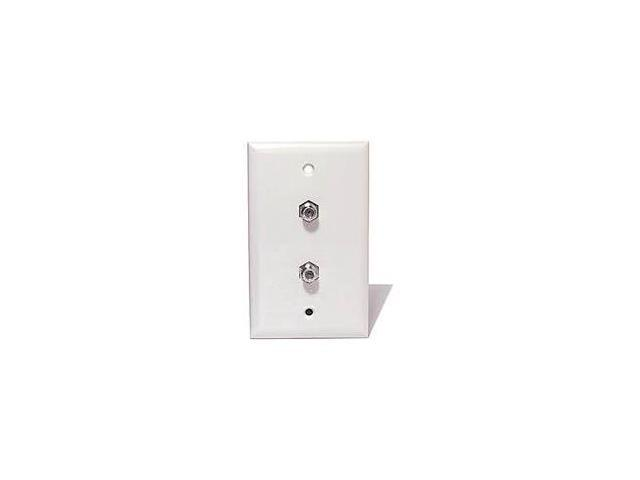 Steren 200-252WH Standard 2-TV Wall Plate, White