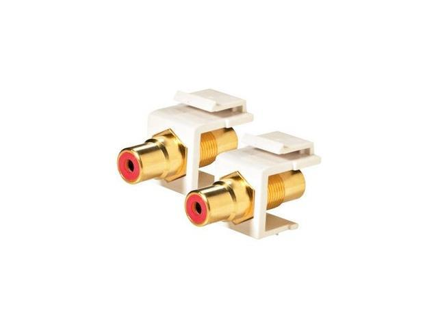 Steren 310-461WH Keystone RCA Jack Adapter Red Insulator, White