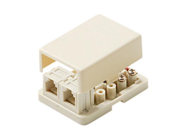 Steren 300-146 4C Ivory Surface Dual Jack