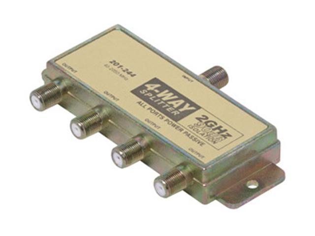 Steren 201-244 4-Way 2.4GHz 90dB Satellite-Splitter