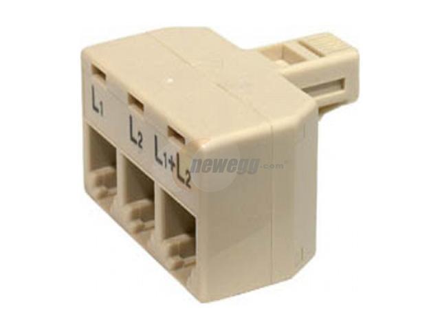 Steren 300-324 Telephone Modular 2-Line Split Adapter