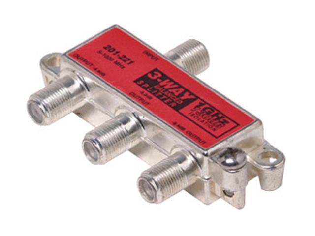 Steren 201-221 3-Way 1GHz 130dB RF Balanced Splitter