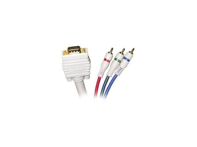 STEREN 253-512IV 12 ft. VGA-3RCA RGB Component Video Cable