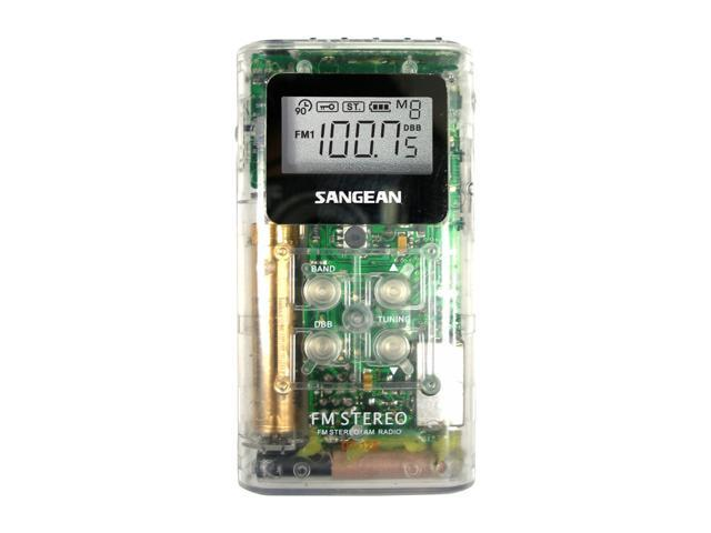Sangean AM/FM Stereo Pocket Radio - Clear DT-120CL