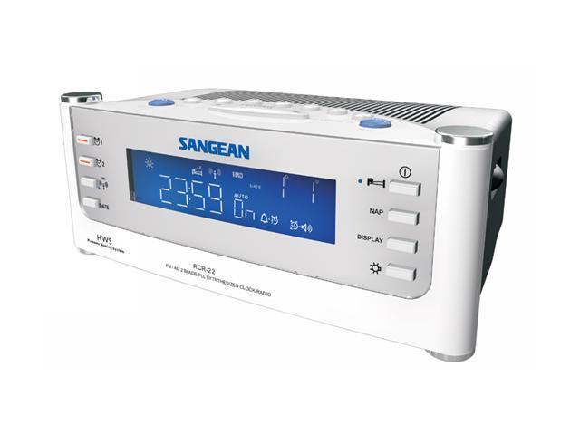 Sangean FM/AM PLL Synthesized Tuning Clock Radio RCR-22