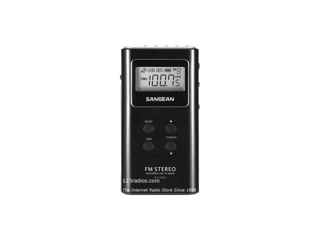 Sangean Pocket Digital Radio Tuner(Black) DT180BLK