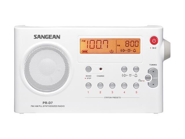 Sangean FM / AM Digital Tuning Portable Receiver PR-D7