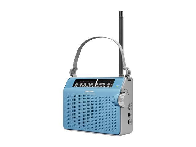 Sangean FM / AM Compact Analogue Tuning Portable Receiver (Blue) PR-D6BU