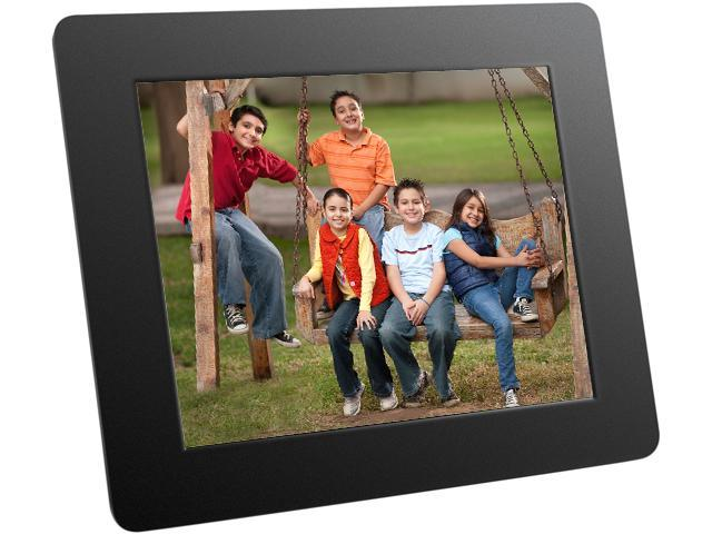 "Aluratek ADPF08SF 8"" 800 x 600 Digital Photo Frame with Auto Slideshow Feature"