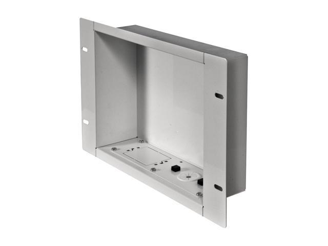 Peerless-AV IBA2-W Recessed Cable Management and Power Storage Accessory Box - White