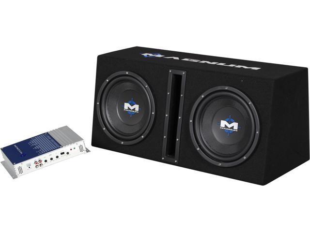 "MTX Dual 10"" Magnum Enclosured Subwoofer & Amp Combo"