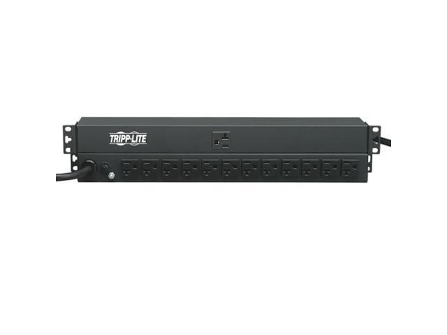 Tripp Lite Basic PDU, 20A, 13 Outlets (5-15/20R), 120 V, 5-20P Input, 15 ft. Cord, 1U Rack-Mount Power (PDU1220)