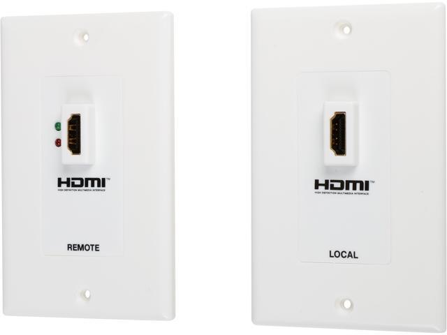 Tripp Lite HDMI over Dual Cat5 / Cat6 Extender Wall Plate Kit, Transmitter & Receiver, 1080P (P167-000)