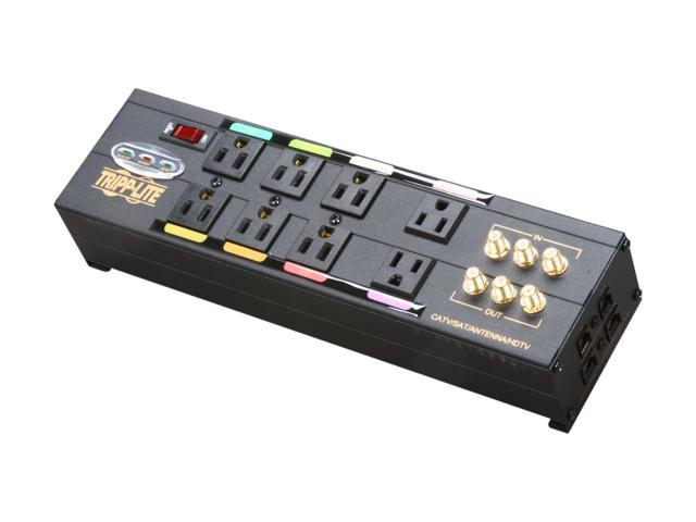 Tripp Lite AVBAR8 8-Outlet Ultimate Protection Isobar Audio/Video Surge Suppressor