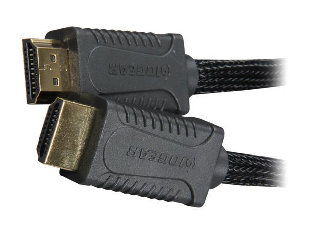 IOGEAR GHDC1402P 6.5 ft. (2 m) Black/Grey High Speed HDMI® Cable with Ethernet M-M
