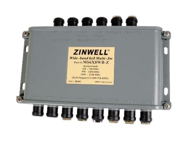 Zinwell MS6X8WB DIRECTV Approved Wideband Multiswitch
