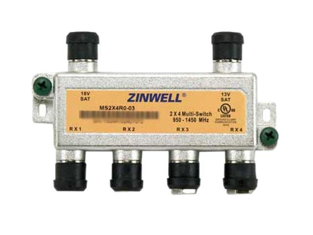 Zinwell MS2X4R0-03 2x4 DTV Multiswitch with Weather Seals