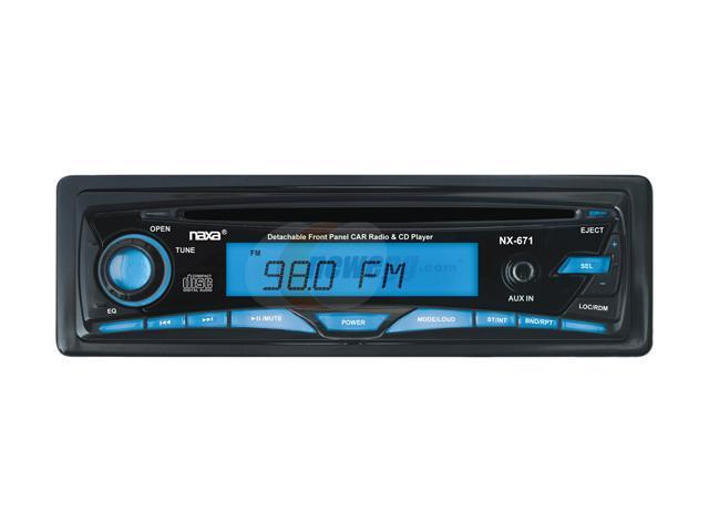 Naxa Detachable CD Receiver with Radio & Aux-In Model NCA-671
