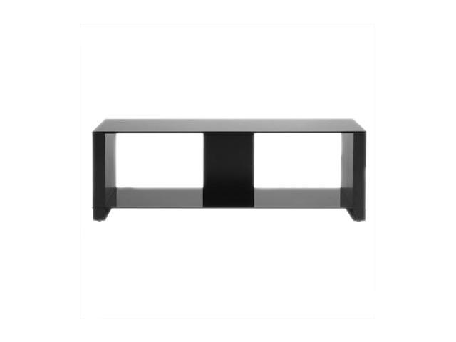 "OmniMount Morello Series MORELLO 50 DARK up to 55"" flat panels and 50"" DLPs Dark with Black Glass Flat Panel Floor Stand"