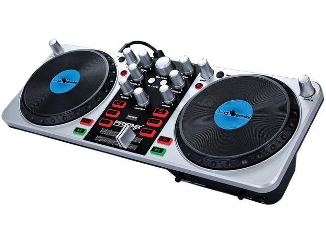 Gemini DJ FIRSTMIX I/O USB DJ Midi Controller with Soundcard