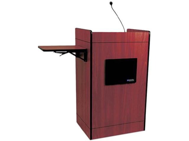 AmpliVox SS3230-MH Mahogany Multimedia Computer Lectern with sound system