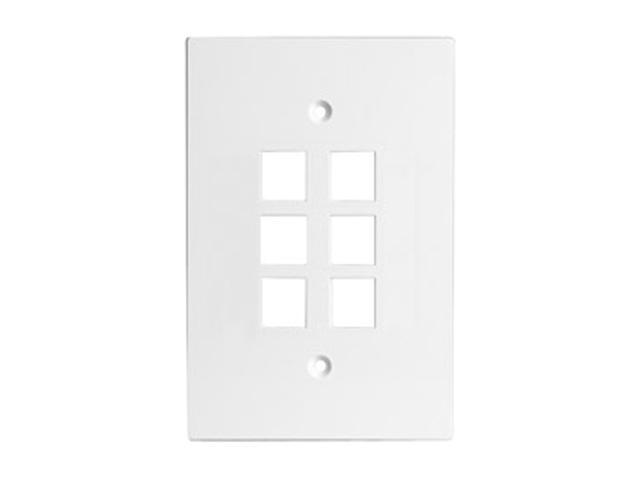 CHANNEL VISION 10-G-6GOW 6 Socket Oversized Faceplate