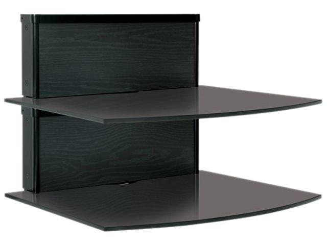 Bell'O BWS-101 Black Ash Two-Shelf Component Wall System