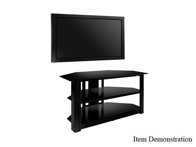 """Bell'O Triple Play Series TPC-2127 Up to 55"""" Black Ash Flat Panel A/V System with Swivel TV Mounting"""