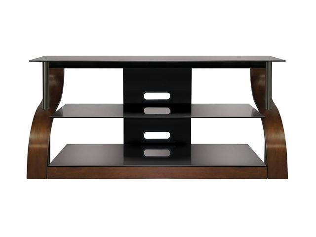 "Bell'O CW343 Up to 55"" Espresso Curved Wood A/V Furniture"
