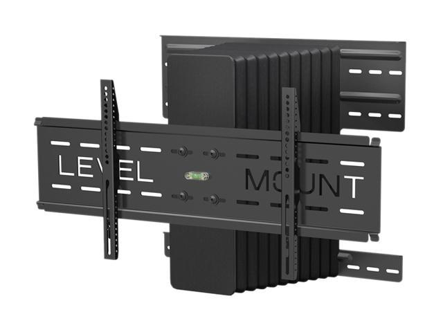 Level mount dc65mcl black 37 85 motorized tilt pan for Motorized full motion tv wall mount