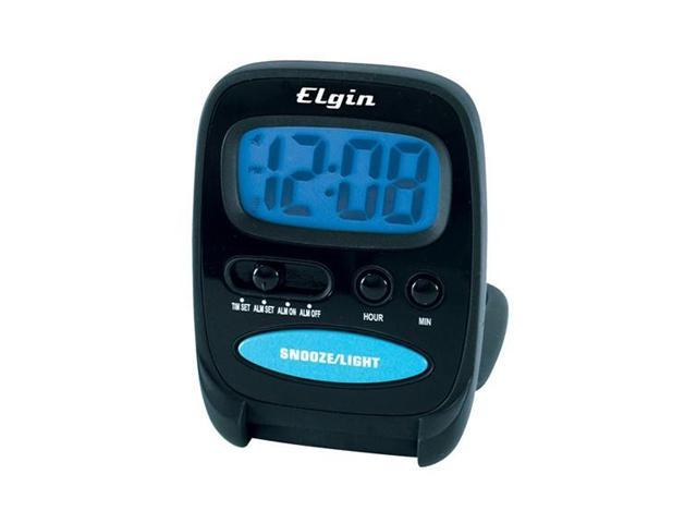 Elgin 3502E Travel Alarm Clock With Red Flashing Alarm
