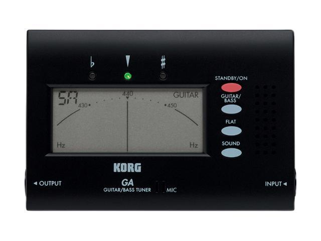 Korg GA40 Electric Guitar and Bass Tuner with Superior Tuning Abilities