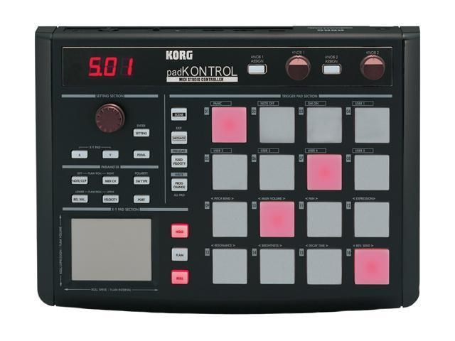 Korg padKONTROL USB Drum Pad Studio Controller, Black