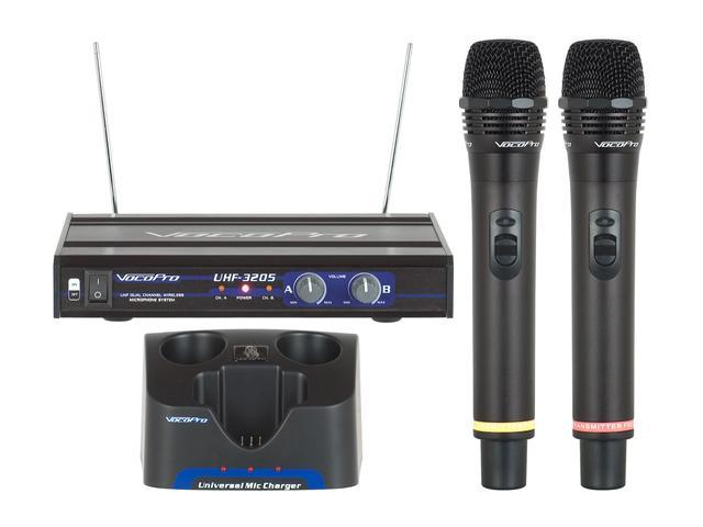 VocoPro UHF-3205 Professional Rechargeable Dual-Channel UHF Wireless Microphone System