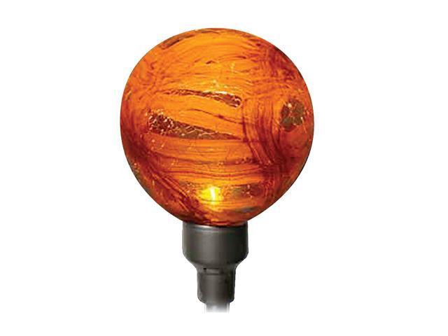 ALLSOP Solar-Powered Red Globe Garden Art Light