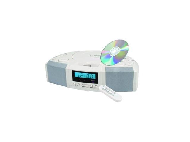 SUPERSONIC IQ-1305-WHT Portable MP3 Speaker with Docking Station, CD Player, AM/FM & Alarm