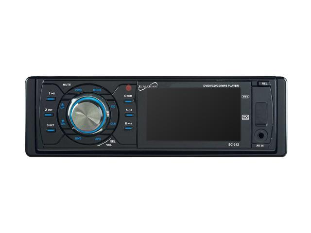 "Supersonic In-Dash DVD Receiver w/ 3"" Display"