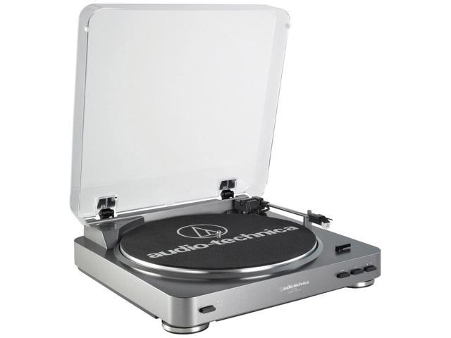 Audio-Technica AT-LP60USB Fully Automatic Belt-Drive Turntable, Silver