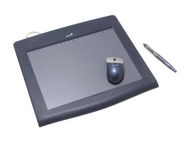 Genius PenSketch 9x12 - Professional Graphic Tablet with 1024 Pressure level Sensitivity and Cordless Mouse & Pen