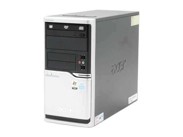 Acer Power APFH-EC3520P Desktop PC Celeron D 352(3.20GHz) 512MB DDR2 80GB HDD Capacity Intel GMA 3000 Windows XP Professional